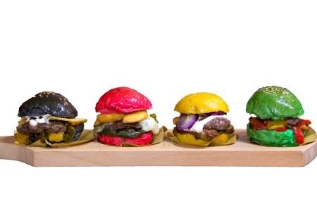 Mini Burger colorati